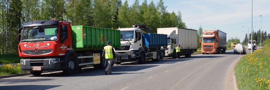 Jätekuljetukset tärkeä osa jätehuoltoa