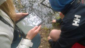 vesiominaisuuksien mittausta lammesta Paimio syksy 2016 Mobiililaboratorio-hanke