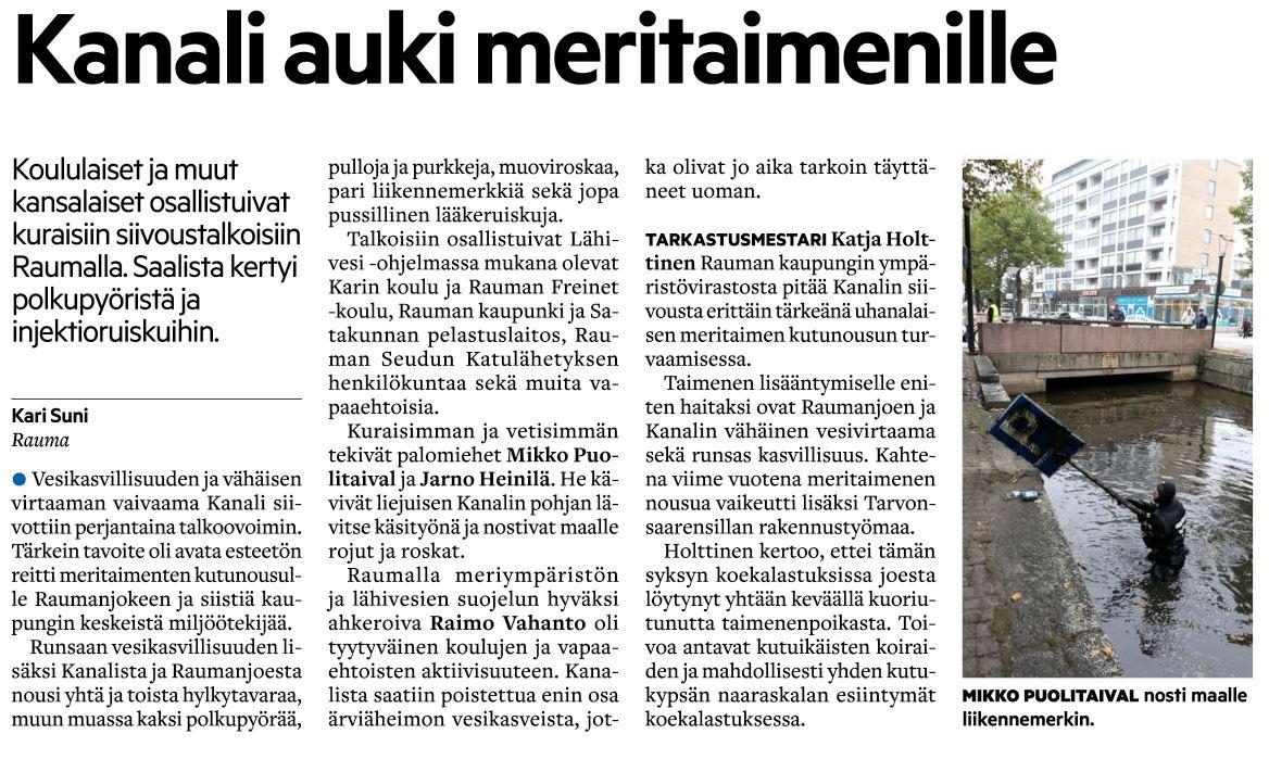 SK_30-9-2017 Kanalin siivoustalkoot