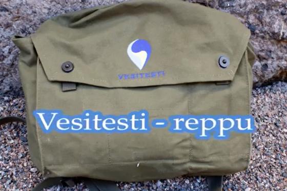Opastusta Vesitesti-laukun käyttöön videolla