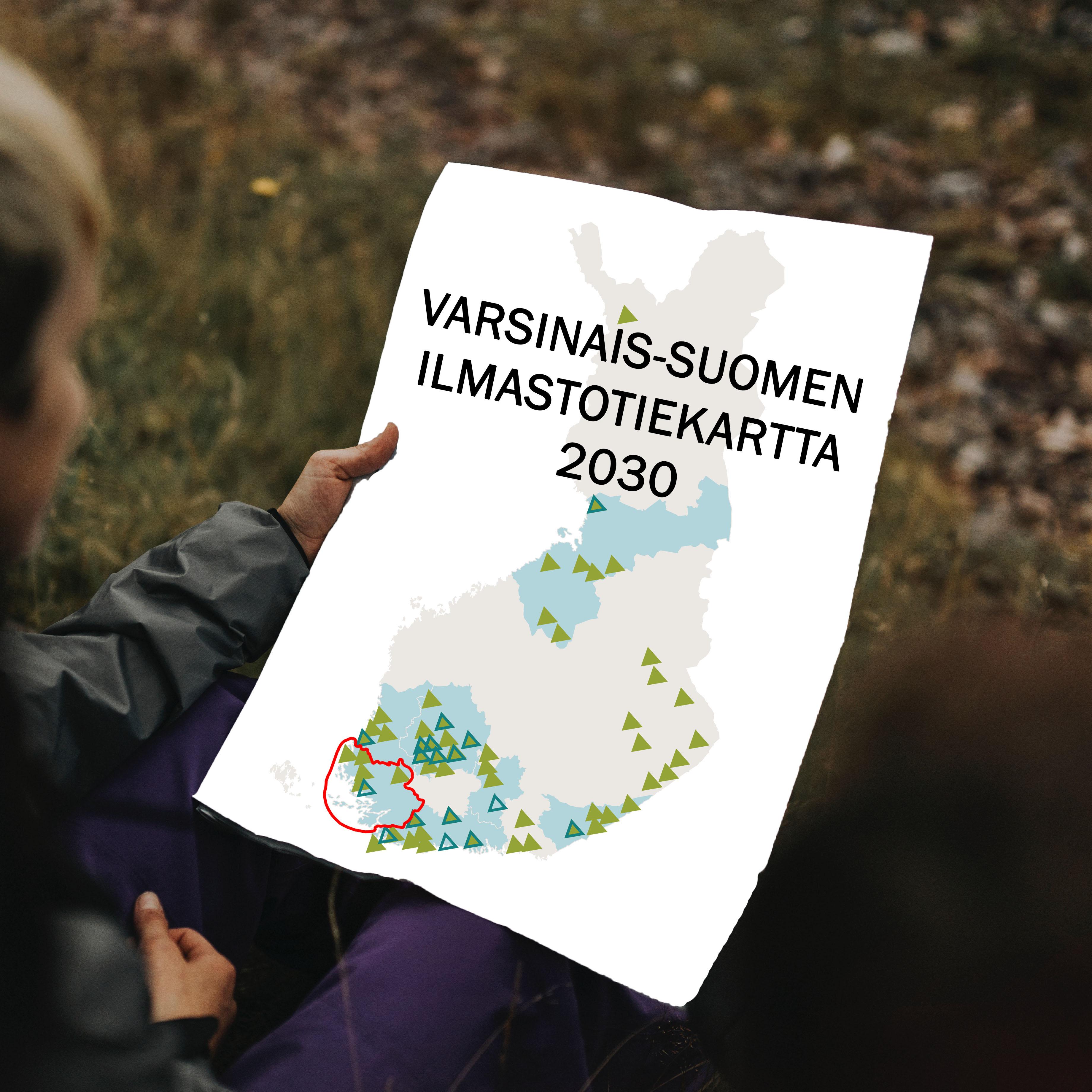 CANEMURE-kartta ja teksti: Varsinais-Suomen ilmastotiekartta 2030