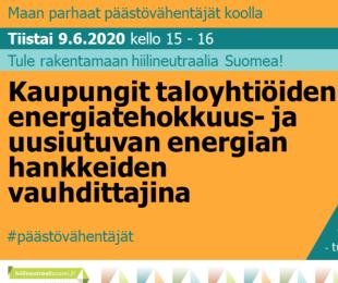 Hiilineutraali Suomi -webinaarit jatkuvat syksyllä