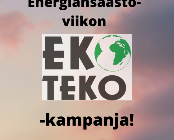 Ekoteko kampanjoi energiansäästöviikolla