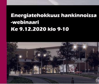 Energiatehokkuus hankinnoissa -webinaari 9.12.