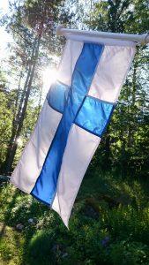Suomen lippu. Kuva: Kuvatoimisto Rodeo Oy.