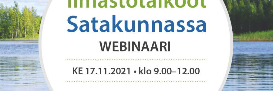 Ilmastotalkoot Satakunnassa -webinaari 17.11.2021